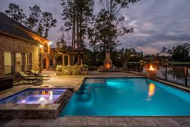 home swimming pools at night. Nighttime-escape-by-Cody-Pools Home Swimming Pools At Night