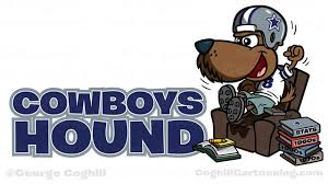 cowboys hound dallas cowboys football fan dog cartoon logo