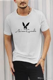 Print T Shirt Summer Style Hot Design Men Ariana Grande Short Sleeve T Shirts