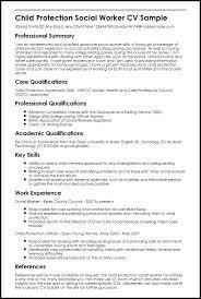 Social Work Resume Sample Child Protection Social Worker Sample