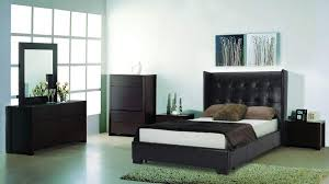Leather Bedroom Furniture Black Leather Bedroom Set