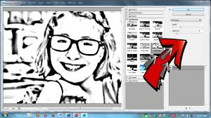 How to Make a Coloring Page With Your Photos Using Adobe Elements