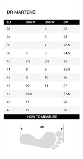 Dr Martens Size Chart In Inches Dr Martens Size Chart Inches Timberland Clothing Size Chart