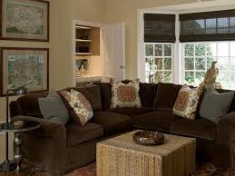Living Room Brown Couch Inspiration Items Teal Sofa Trim Gray Purple Paint Furniture Range Walls