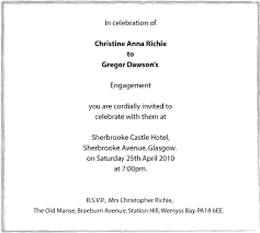 Engagement Invitation Format Simple Engagement Invitation Wording Marriage Announcement Wording