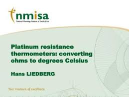 Ohms To Celsius Chart Ppt Platinum Resistance Thermometers Converting Ohms To