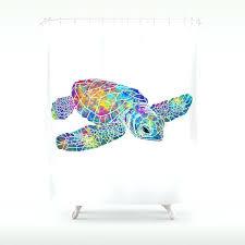 turtle shower curtain colorful sea turtle shower curtain hawaiian turtle shower curtain