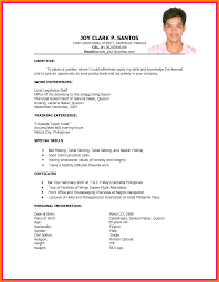 Ojt Resume Objectives Free Resume Example And Writing Download