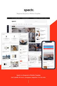 Spectr Responsive News And Magazine Website Template 78170