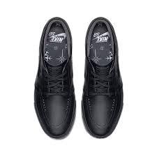 nike sb zoom stefan janoski leather black zoom