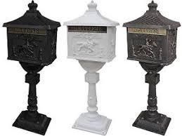 cast aluminum mailbox. Delighful Aluminum Image Is Loading MailBoxHeavyDutyMailboxPostalBoxSecurity And Cast Aluminum Mailbox