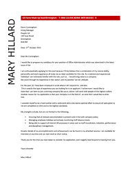 Office Administration Cover Letters Office Administrator Cover Letter Sample Dayjob 2013