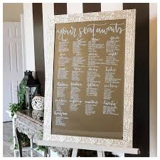 Etsy Mirror Seating Chart Mirror Seating Chart Hand Lettered Chicagoland Only