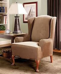 stretch stripe wing chair slipcover wingback chair slipcoversottoman slipcoversofa chairsure fit