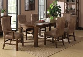 8 dining room table leather chairs unique dining room chairs leather bradleys furniture etc utah rustic