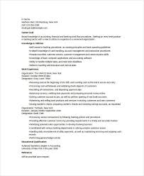 Entry Level Banking Resumes Banking Resume Samples 45 Free Word Pdf Documents Download