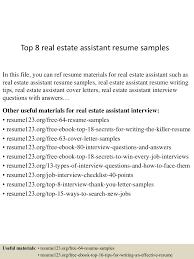 Realtor Resume Sample top100realestateassistantresumesamples1501002610011003100conversiongate100thumbnail100jpgcb=11003002100923 65
