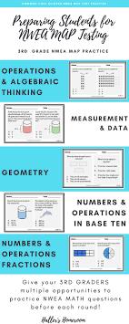 Map Test Chart 2017 Nwea Map 3rd Grade Math Practice Questions Rit 192 202