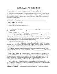 Apartment Sublease Template Apartment Sublease Agreement Template Nickcornishphotography Com