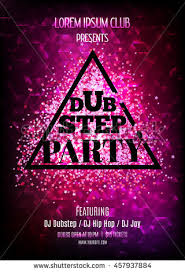 Dubstep Party Night Club Flyer Template Stock Vector 457937884 ...