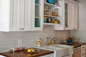 Home Made Kitchen Cabinets White Subway Tile Backsplash Butcher Block Counters Google