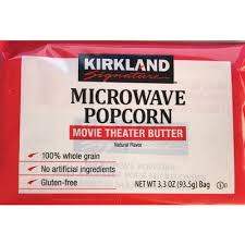 calories in microwave popcorn theater er from kirkland signature