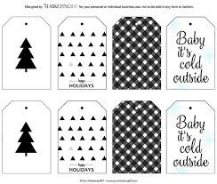 Modern Holiday Gift Tags :: Free Printable - yourmarketingbff.com
