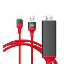 Cáp Lightning Kết Nối Trực Tiếp Điện Thoại Với Tivi Qua Cổng HDMI  _Model:7575S - Cáp HDMI - Displayport Hãng OEM