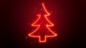 Drawing And Rotating A Neon Christmas Tree With Sparkles Loop 4K Stock  Footage Video 13083650 | Shutterstock