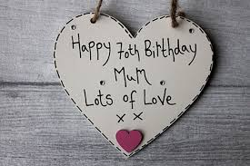 70th birthday gift ideas mum heart