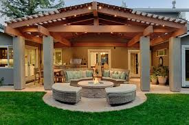 wood patio covers pool modern with