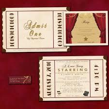 Movie Ticket Wedding Invitations Gse Bookbinder Co