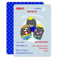 Personal Invitations Birthday Rock Painting Community Personalized Hashtag Invitation Diy Funny