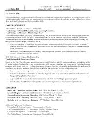 School Principal Resume Sample Entry Level Assistant Principal