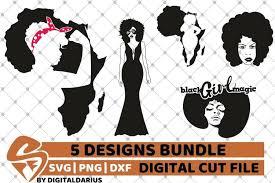 African american silhouette illustrations & vectors. 5x Black Woman Bundle Svg Afro Lady Svg File Africa Svg 218406 Cut Files Design Bundles