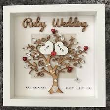 image is loading personalised handmade ruby 40th wedding anniversary family tree