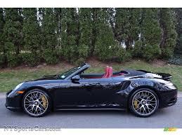 porsche 2015 911 turbo s black. 2015 911 turbo s cabriolet basalt black metallic blackgarnet red photo porsche