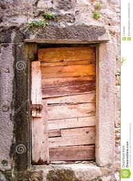 very old rustic wood door a wooden door in a rural third world country