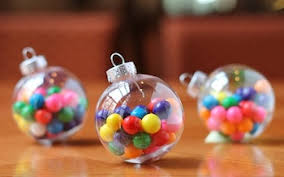 blowing christmas wishes bubblegum ornament gift