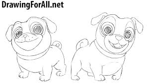 Small Picture How to Draw Puppy Dog Pals DrawingForAllnet