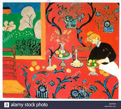 Harmony in Red - The Red Dining Table 1908 Henri Matisse Stock ...