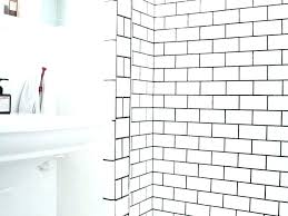 white tile with gray grout white subway tile grey grout white subway tile with dark grout