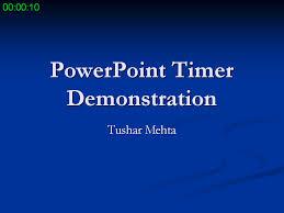 Powerpoint Timer Add In