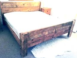 homemade twin bed frame exotic how to build a plans simple rustic wooden frames