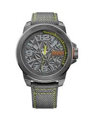 mens watches mens smart watches very co uk hugo boss hugo boss grey dial green accent grey strap mens watch