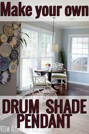 diy drum shade pendant
