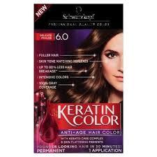 Schwarzkopf Keratin Color Anti Age Hair Color 6 0 Delicate