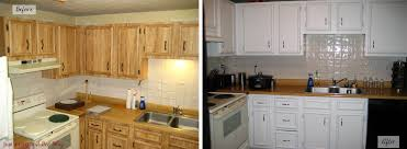 Wonderful Painted White Kitchen Cabinets Before And After. Painting Kitchen  Cabinets White Before And After