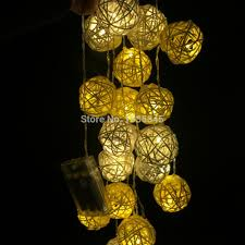 decorative lighting ideas. 20/Set Handmade Rattan Ball String Lights Fairy Light Ideas Lighting For Christmas Party Home Bedroom Decor Use With Battery Box-in Holiday From Decorative R