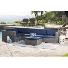 outdoor sectional. Plain Sectional Ostrowski Outdoor Wicker Patio Sectional With Cushions Inside I